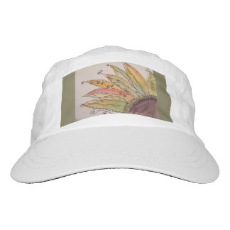 Watercolor Sunflower Cap, Olive Green Hat