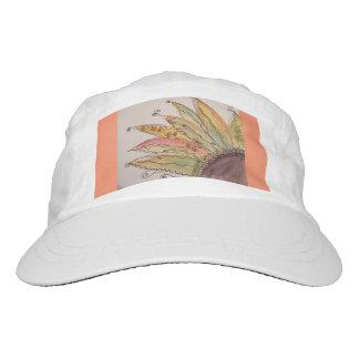 Watercolor Sunflower Cap, Orange Hat