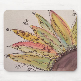Watercolor Sunflower Mouse Pad