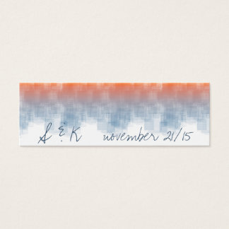 Watercolor Sunrise WSRA Mini Business Card