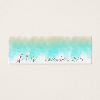 Watercolor Sunrise WSRC Mini Business Card