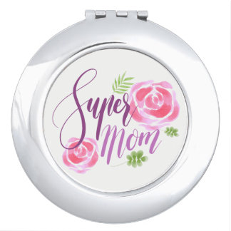 Watercolor Super Mom Accent Roses Mirrors For Makeup