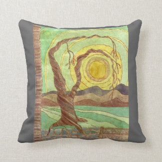Watercolor Surreal Landscape Art Cushion