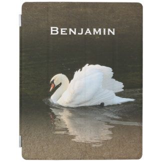 Watercolor Swan iPad Cover