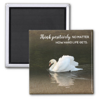 Watercolor Swan Magnet