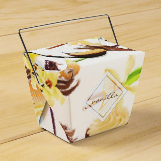 Watercolor Sweet Vanilla Orchid Monogram Favour Box