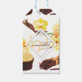 Watercolor Sweet Vanilla Orchid Monogram Gift Tags