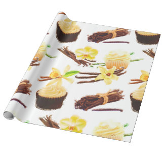 Watercolor Sweet Vanilla Orchid Wrapping Paper