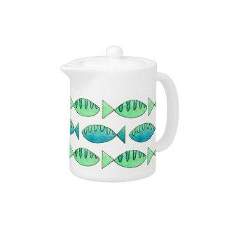 Watercolor Swimming Fish