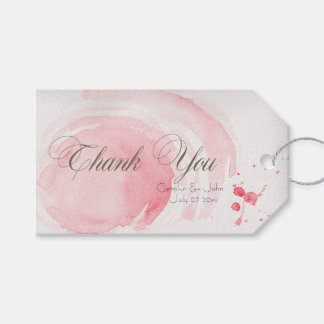 Watercolor Swirls Wedding Day Thank You Gift Tags