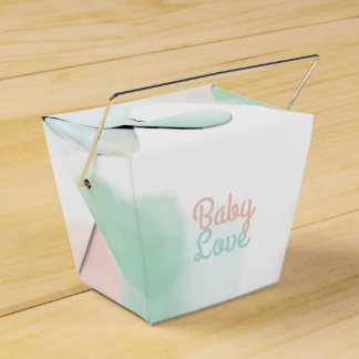 Watercolor Take Out Box - Customise Your Message Party Favour Box