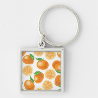 Watercolor tangerines key ring