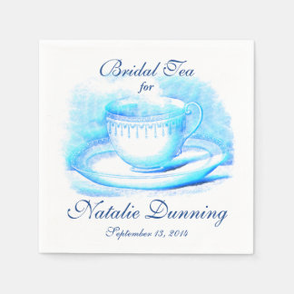 Watercolor Teacup Disposable Serviettes