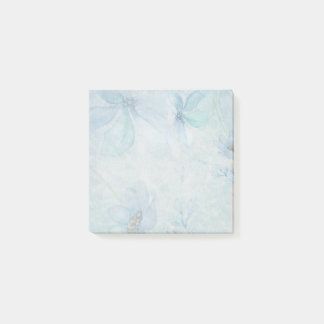 Watercolor Teal Flowers Post it Notes
