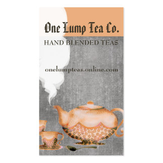 Watercolor teapot tea cups steaming tea blender pack of standard business cards