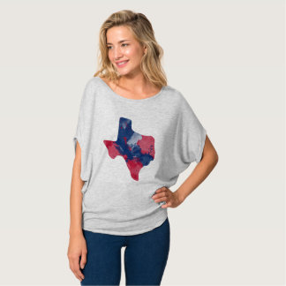 Watercolor Texas Flowy Top