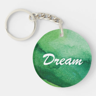 Watercolor texture Double-Sided round acrylic key ring