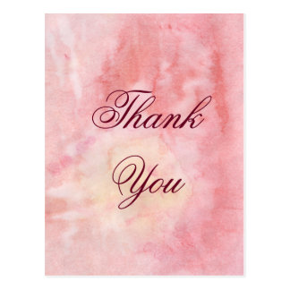 Watercolor Thank You Card Postcard