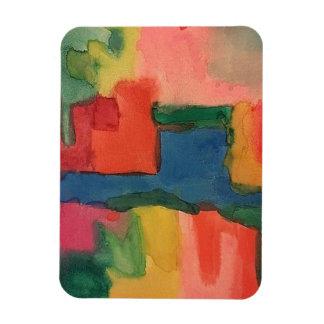 Watercolor Tones, Colorful Frig Magnet, Art Piece. Magnet