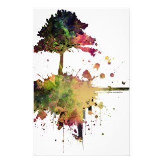 Watercolor Tree Stationery