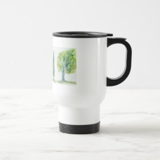 Watercolor Trees 15 Oz Stainless Steel Travel Mug