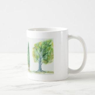 Watercolor Trees Classic White Coffee Mug