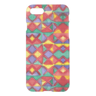 Watercolor Triangle Pattern by KCS iPhone 7 Case