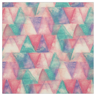 Watercolor Triangle Pattern + your ideas Fabric