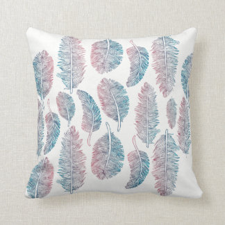 Watercolor Tribal Feathers - All Fabrics Cushion