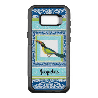 Watercolor Tropical Beach Toucan Bird Pattern OtterBox Commuter Samsung Galaxy S8+ Case