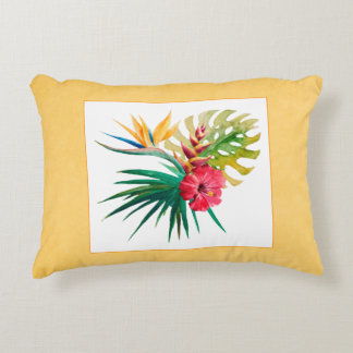 Watercolor Tropical Flowers 12x16in Pillow