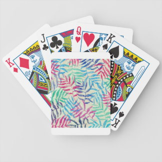 Watercolor Tropical Palm Leaves Bicycle Playing Cards
