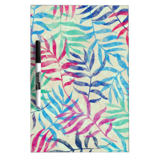Watercolor Tropical Palm Leaves II Dry Erase Whiteboards