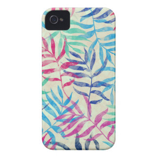 Watercolor Tropical Palm Leaves II iPhone 4 Case-Mate Cases