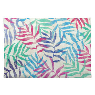 Watercolor Tropical Palm Leaves II Placemat