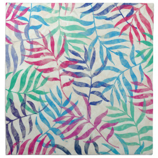 Watercolor Tropical Palm Leaves Napkin