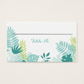 Watercolor Tropical Wedding Table No.