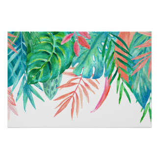 Watercolor Tropicals Poster
