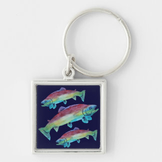 Watercolor Trout Key Ring