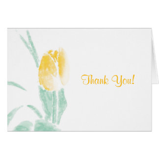 Watercolor Tulip Thank You Cards