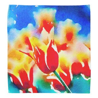 Watercolor Tulips Bandana