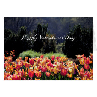 Watercolor Tulips for Valentines Day Card