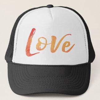 Watercolor Typography Trucker Hat