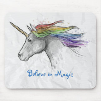 Watercolor Unicorn Mousepad