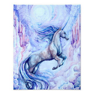 Watercolor Unicorn Photo Print