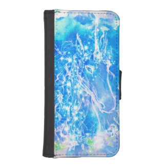 Watercolor Unicorn with starry eyes illustration iPhone SE/5/5s Wallet Case