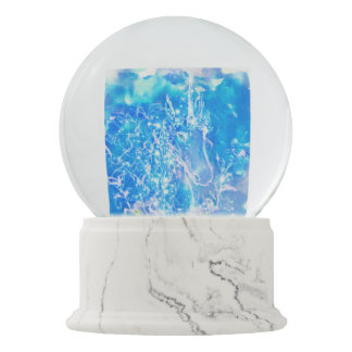 Watercolor Unicorn with starry eyes illustration Snow Globe