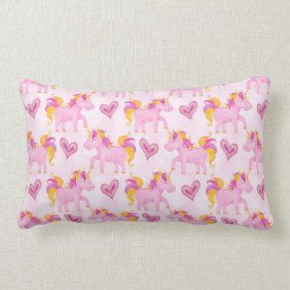 Watercolor Unicorns Lumbar Cushion
