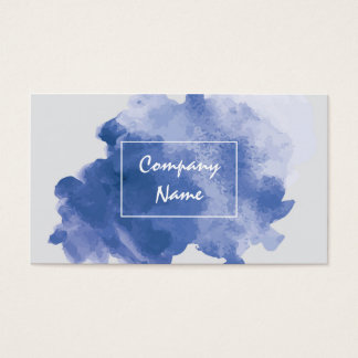 Watercolor Unique Business Cards