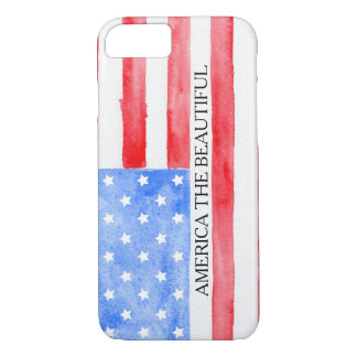 Watercolor USA Flag iPhone 8/7 Case